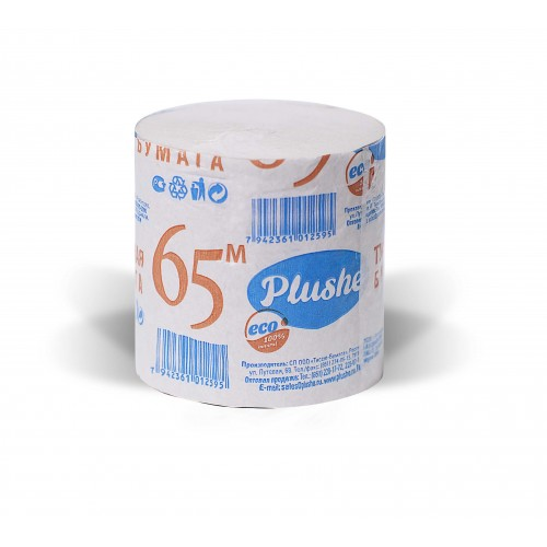 Туалетная бумага ECOPLUSHE 65м
