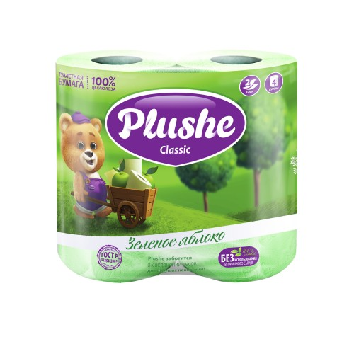 Туалетная бумага  CLASSIC Зеленое яблоко