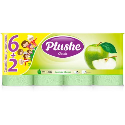 Туалетная бумага  CLASSIC кассета 6+2 Яблоко