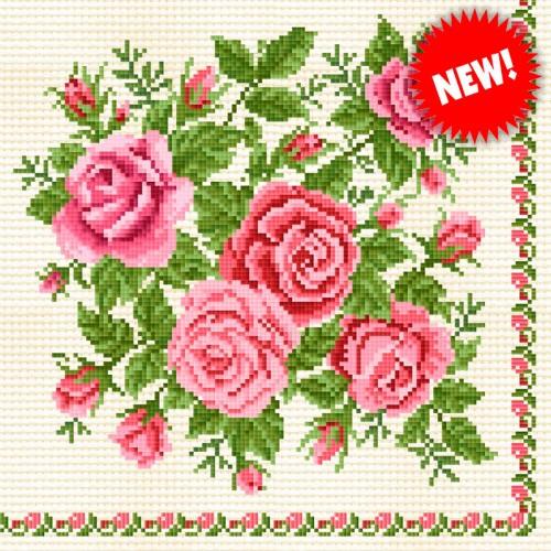 Салфетки бумажные Роза Канва